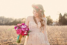 ~Blush Wedding Dresses~ / Blush-hued and Pink Wedding Gowns / by Hustle Your Bustle