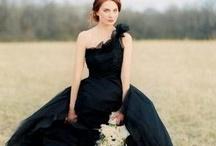 ~Black Wedding Dresses~ / Stunning #Black #WeddingDresses / by Hustle Your Bustle