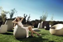 """COLLECTION STONES / """"stonesCollection by Stefano Giovannoni & Elisa Gargan """"As the name suggests, was to develop elements we can find in nature creating a synergy between the natural and the artificial landscape. The material, as well as its original shape permit Stones integrate perfectly into every environment and transmit the elegance.""""""""  / by Vondom"""