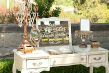 Wedding welcome tables, decor / by Hustle Your Bustle