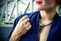 Horst Lang / Influenced by Art Deco, Bauhaus and nature, Lang's work is clearly distinguishable by its powerful shapes and the strong, organic colors of each element. Not surprisingly, Horst has won a clutch of awards including first prize in the Diamond International Awards. / by Plukka (Fine Jewelry)