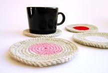 Crochet potholders, coaster - gehaakte pannenlappen en onderzetters
