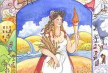 Demeter / Images and icons of the Greek Goddess Demeter, lady of grain and growth, mother of Kore/Persephone and Patron of the Eleusinian Mysteries