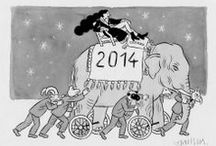 Welcome 2014 / Quelques sympathiques cartes de voeux pour cette nouvelle année !!!