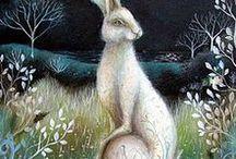 Art peinture lapins, lièvres / Lapins, lièvres (Aquarelles, dessins, pastels...)