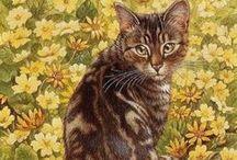 Peintre (Lesley Ann Ivory) / Chats Merveilleuse mise en scène de Lesley Ann Ivory