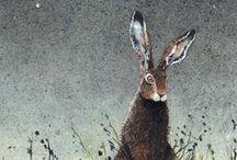 Peintre (Maggie Vandewale) / Animalier (lièvres...)