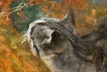 Peintre (Bruno Lijefors) / Chats, renards, lièvres, oiseaux. Nous entrons dans les tableaux grâce au regard de Bruno Lijefors.