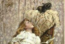 Peintre (Charles Burton Barber) / Animalier et Personnages (enfants)