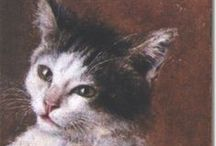 Peintre (Julius Adam) / Chats (XIX e siècle)