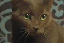 Peintre (Diane Hoeptner) / Peinture animalière : les chats, mes amours !