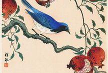 Art pictural (Ohara Koson) / Art pictural japonais animalier et floral