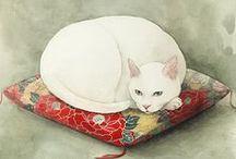 Art pictural (Midori Yamada) / Peinture, dessin animalier asiatique (chats...)
