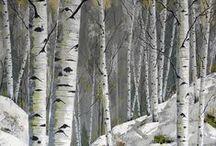 Peintre (Gérald Trudel) / Animalier (forêts canadiennes)