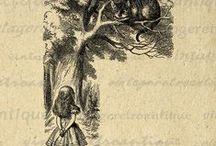 Art dessin vintage (noir et blanc) / Dessins animaliers d'antan ou ressemblant à des images vintage