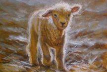 Peintre (Mary Iselin) / Les moutons et leur environnement