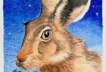 Peintre (Danielle Barlow) / Animalier, mythe, légendes.  Invitation à la rêverie enfantine