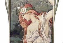 Art peinture (Elisabeth Sonrel) / Art nouveau. Peintre préraphaélite