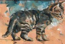 Peintre (Dorus Brekelmans) / Chats tigrés