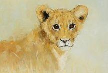 Peintre (John Payne) britannique / Faune, animalier