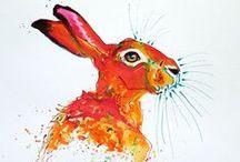 Peintre (Denise Laurent) / Aquarelles animalières, émaux