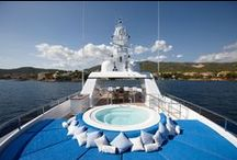 Helix Superyacht Gallery / The 45-metre super yacht Helix is the perfect of example of a modern Feadship  - superb construction complete with hot-tub, tender, skylights and gym. www.superyachtworld.com