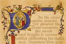 Illuminated Manuscripts / Various illuminated manuscript pins for reference