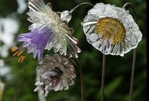 Garden ►☼Plate Flowers☼◄ / Plate flowers made from recycled dishes / by Tina Marie Proctor