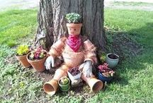 Garden ►☼Pot People☼◄ / make garden art people from Terracotta pots / by Tina Marie Proctor