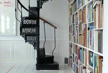 Home -stairs / Stairs are passageways between worlds / by Beth Stedman