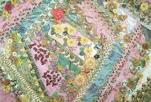 Crazy quilting , embroidery, quilting / by Debra Hawkins
