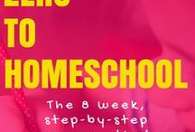 Beginning to Homeschool / Thinking about homeschooling? It's amazing, you should try it! The resources here will help you get started in homeschooling smoothly and easily.