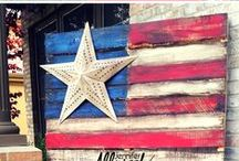 Patriotic Decor Ideas and Recipes / Patriotic ideas for celebrating Memorial Day, the 4th of July, and Veteran's Day. Patriotic ideas include recipes, red, white, and blue treats, DIY projects, and crafts for kids.
