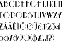 Typography / Fonts, letters, hand lettering