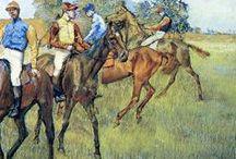 Degas horse racing