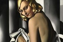 Tamara de Lempicka / (16 May 1898 – 18 March 1980), born Maria Górska in Warsaw, Poland into a prominent family. Her style epitomized the Art Deco movement. In 1928, she became the lover of longtime patron Baron Raoul Kuffner von Diószeg. They moved to the United States in 1929. She married the Baron and settled in Beverly Hills, California. She managed to get Kizette out of Nazi-occupied Paris during the war. After Baron Kuffner's death in 1961, de Lempicka moved to Houston, Texas. Tamara died on March 18, 1980. / by John Myers Art