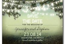 Wedding: save the dates, invites, guestbooks and thank-you's!