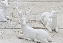Dreamin' of a White Christmas / Winter and white Christmas ideas for decor or DIY.