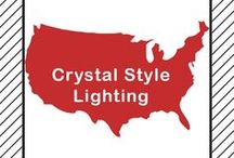Crystal Style Lighting / Crystal is not really a style in the purist sense, but grouping all crystal lights in the same style, makes it easier for you to shop. Crystal must be the main design feature, not just one or two crystal accents.