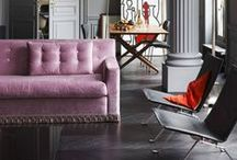 INTERIOR: VERY BERRY / Spring Summer 2015 Interior Trend.                                           Bursting with the memories of summer, purple berries and rose petals leave behind beautiful blemishes / Diffused watercolor and stained markings inspire print and pattern / Textiles are luxurious and refined.