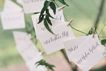 SEATING CHARTS + ESCORT CARDS / Seating Charts and Escort Card inspiration for your wedding.