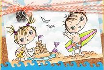 Kiddos by Stampendous / Kiddos by Fran Seiford and Stampendous are engaged in all the real activities your kiddos enjoy. Such a fun way to celebrate the kiddos big and small in your life!