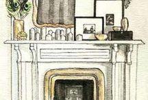 fireplace / by Kristen Wright Design