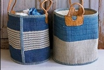 Baskets, Natural Fibers and Fabrics / Baskets, natural fibers and fabrics that weave the patterns of our lives.