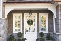 porch renovation - facade / Inspiration for redoing some exterior features to upgrade and better incorporate the facade with the rest of house