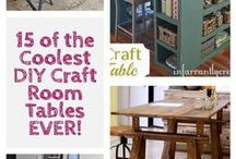 Decorate {Craft Room} / Ideas to set up the perfect crafting space. Organizing and decorating your space to encourage creativity.