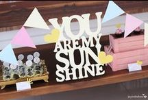 You Are My Sunshine Party / Sunshine | You Are My Sunshine | Party | Ideas | Printables | Cake | Cupcakes | Invitation | Decorations | Favors | Games | Food | SIMONEmadeit.com