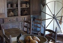 Early Primitive Dining Rooms