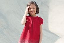 The little red dress  / A sneak peek of Il Gufo Fall Winter 2013 collection.
