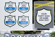 Police Party / Police | Themed | Birthday | Party | Ideas | Printables | Cake | Cupcakes | Invitation | Decorations | Favors | Games | Food | Cops & Robbers | SIMONEmadeit.com